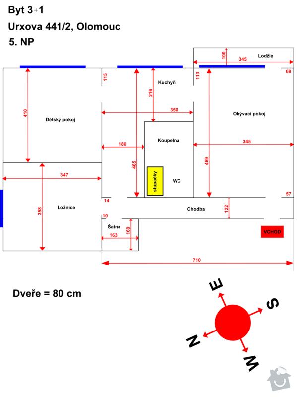 Rekonštrukcia panelového bytu 3+1, Olomouc: Stav_2013-06-15_TMU_