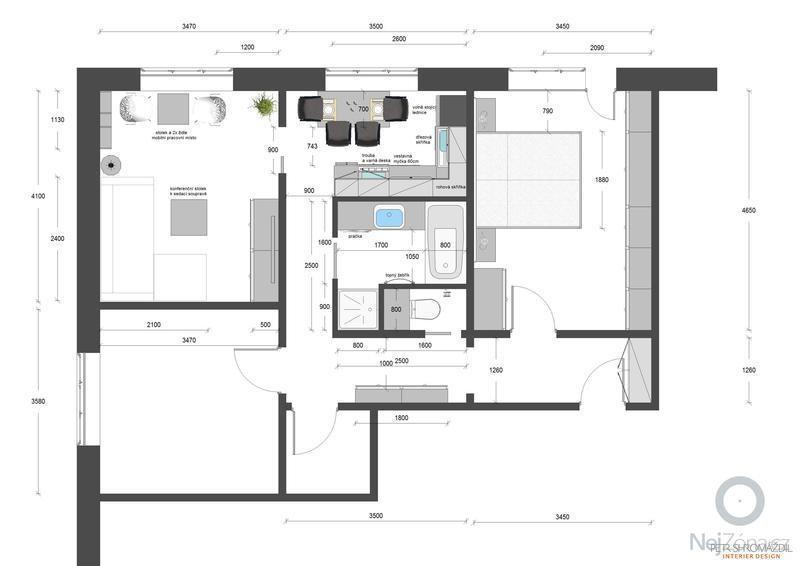 Rekonštrukcia panelového bytu 3+1, Olomouc: Plan_2013-08-25_TMU_