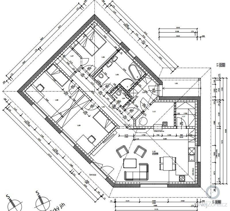 Položení podlahové EPS izolace: pudorys