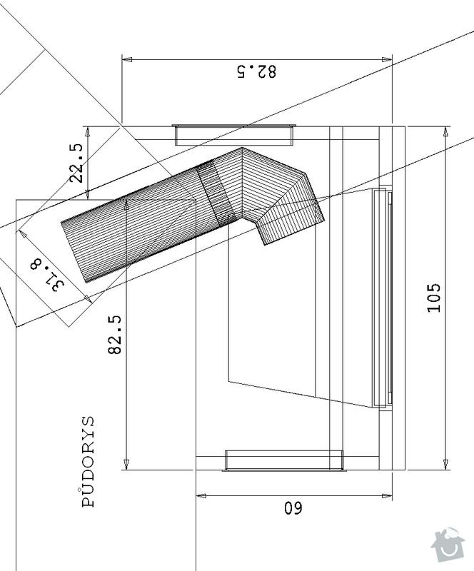 Krb teplovzdušný.: pudorys
