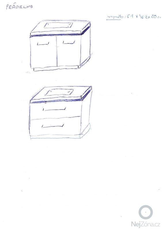 Skříňky pod umyvadlo: pradelna