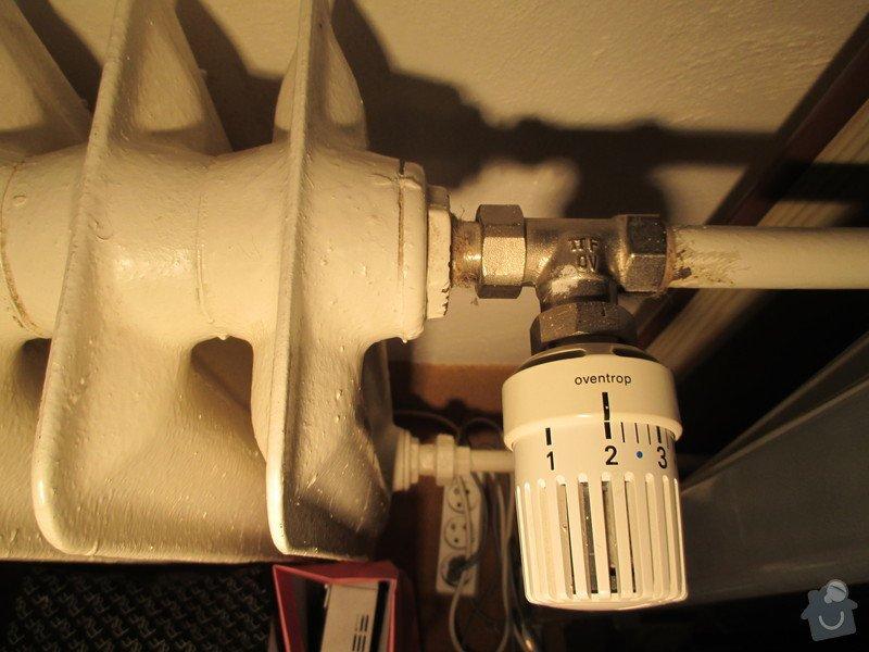 Oprava ventilu u topení na vodu: radiator