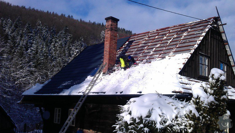 Položení nové střešní krytiny - plech, cca 260 m2: IMAG0882_2_