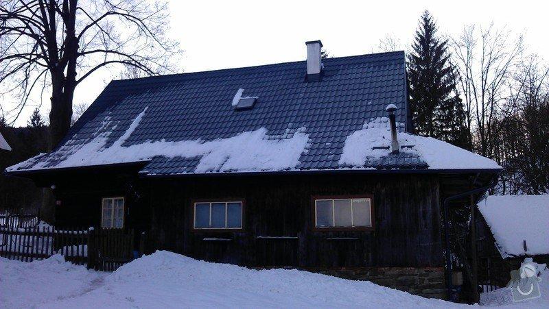 Položení nové střešní krytiny - plech, cca 260 m2: IMAG0966