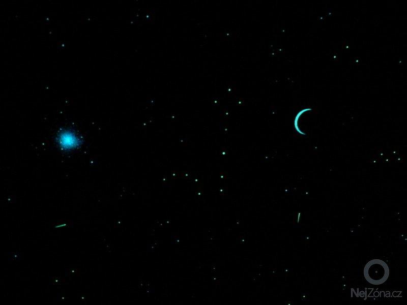 Malba noční oblohy na hliněné omítky: P1230131