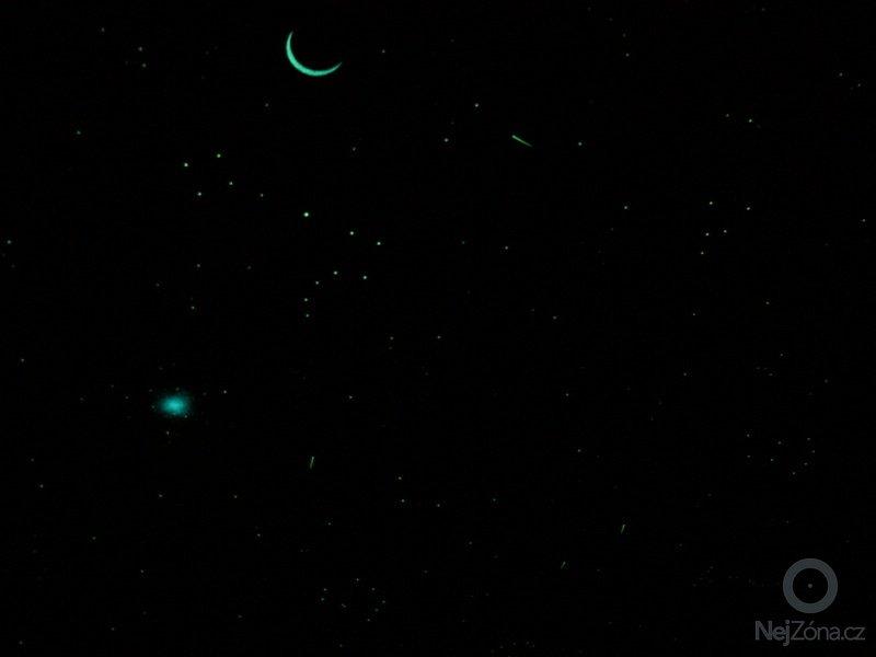 Malba noční oblohy na hliněné omítky: P1230136