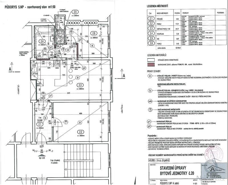 Poptávám rekonstrukci bytu se změnou dispozice ze současného 2+1 na 3+kk.: navrhovany_stav