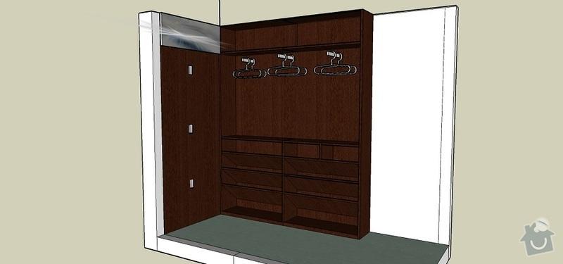 Výroba botníkové šatní skříně: _Predsin-otevrena