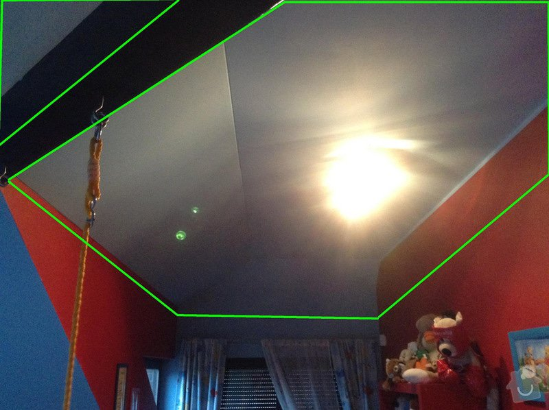 Sádrokarton - snížení stropu: image