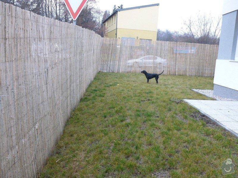 Zpevnění svahu + plot: pozemek