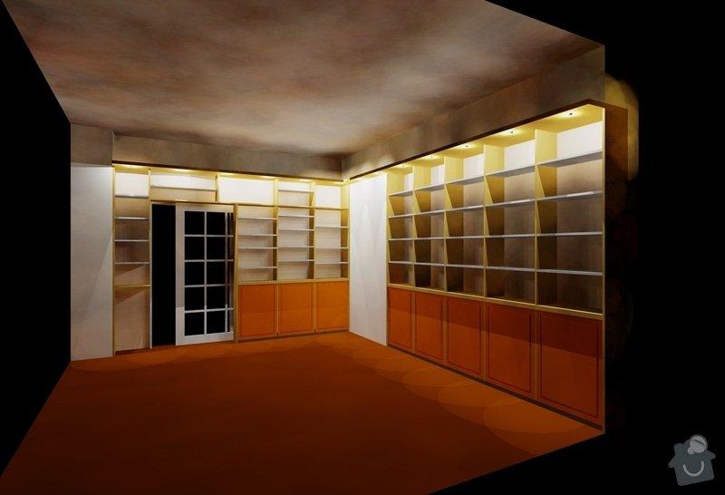 Rekonstrukce a přestavba rodinného domu: knihovna_-_navrh