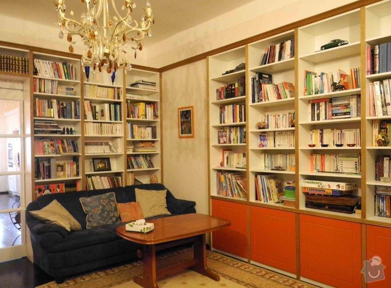 Rekonstrukce a přestavba rodinného domu: knihovna_-_realizace