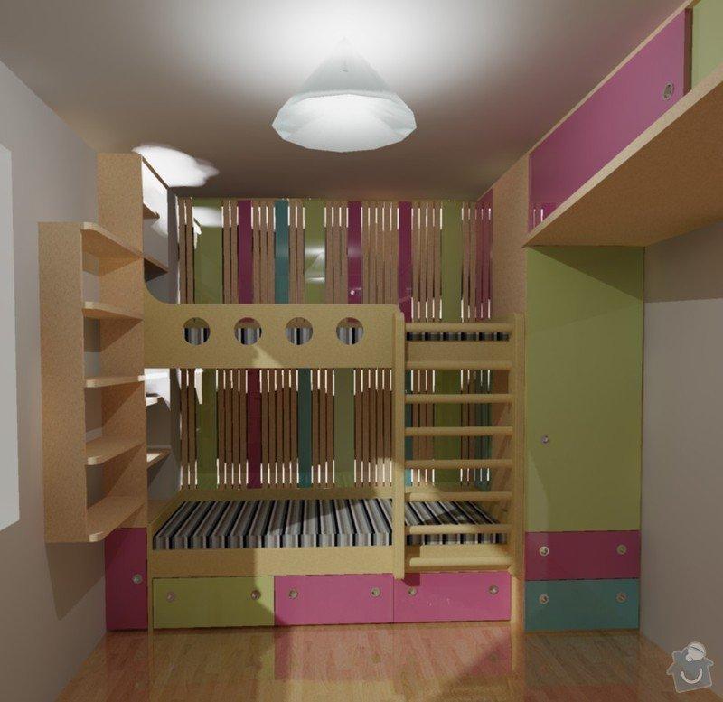 Rekonstrukce a interier bytu: detsky_pokoj_-_navrh