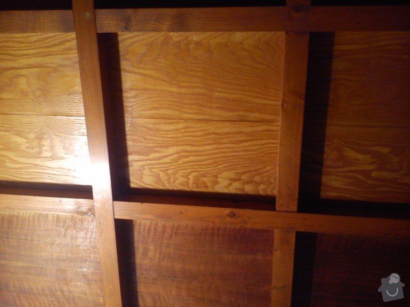 Nátěr či nástřik dřevěného stropu na bílo: DSC_0477