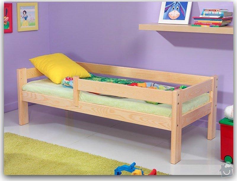 Detska postel z masivu 160 x 90 cm: postel
