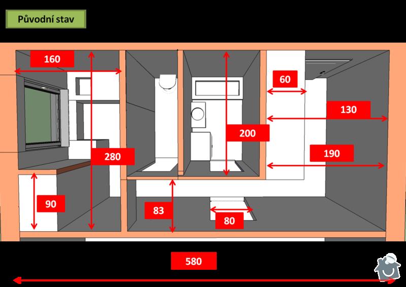 Kompletní rekonstrukce bytu 1+1: Obrazek1
