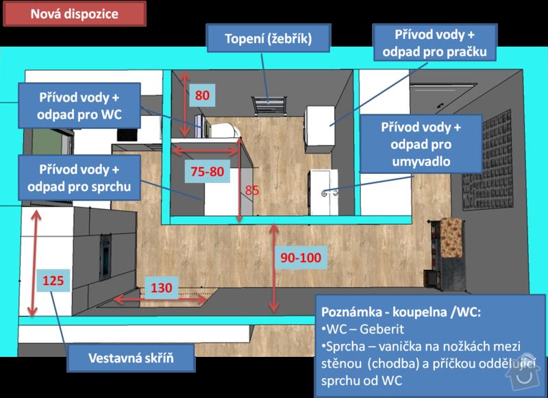 Kompletní rekonstrukce bytu 1+1: Obrazek2