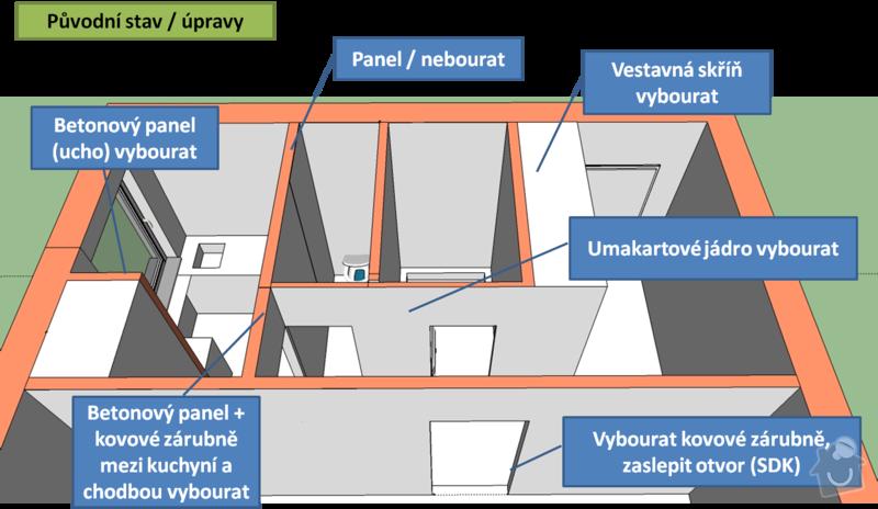 Kompletní rekonstrukce bytu 1+1: Obrazek3