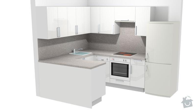 Vestavné skříně, sádrokartonové zdi a kuchyň: kuchyn2