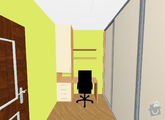 Vestavné skříně, sádrokartonové zdi a kuchyň: pracovna_skrin_na_druhou_stranu_do_loznice