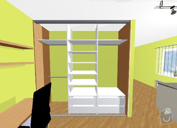 Vestavné skříně, sádrokartonové zdi a kuchyň: skrin_-_bude_ze_strany_loznice_nutno_zohlednit_zkosenou_stenu_v_leve_casti_skrine
