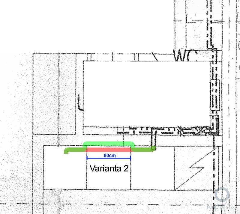 Zapuštění odpadního potrubí (0,6 až 1,5m) do cihlové příčky: odpad2