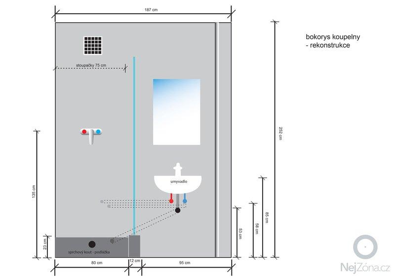 Instalatérská práce (výměna vodovodů +odpad v panelovém jádře): koupelna_bokorys_rekonstrukce