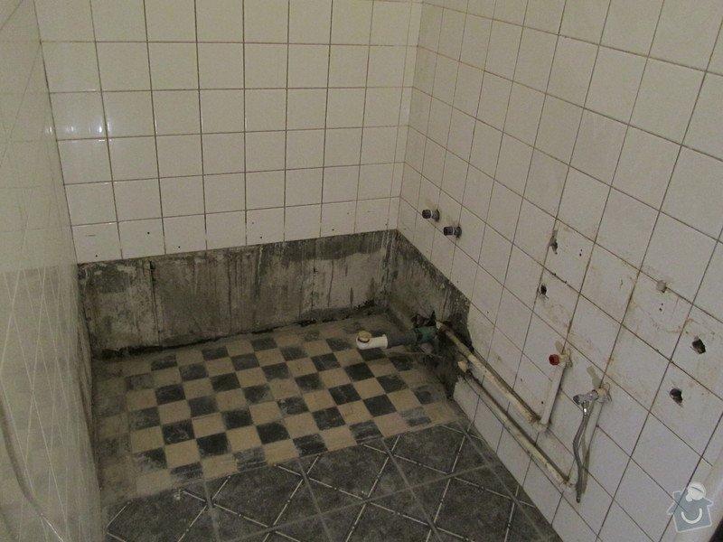 Instalatérská práce (výměna vodovodů +odpad v panelovém jádře): prostor_koupelny