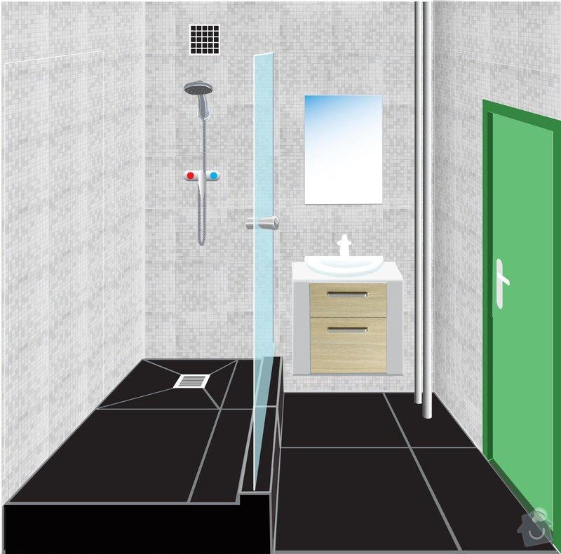 Instalatérská práce (výměna vodovodů +odpad v panelovém jádře): koupelna_vizualizace_po_rekonstrukci
