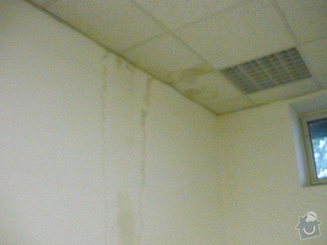 Oprava střechy v místech, kde zatéká: P1000774