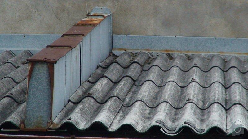 Oprava střechy v místech, kde zatéká: DSC01020