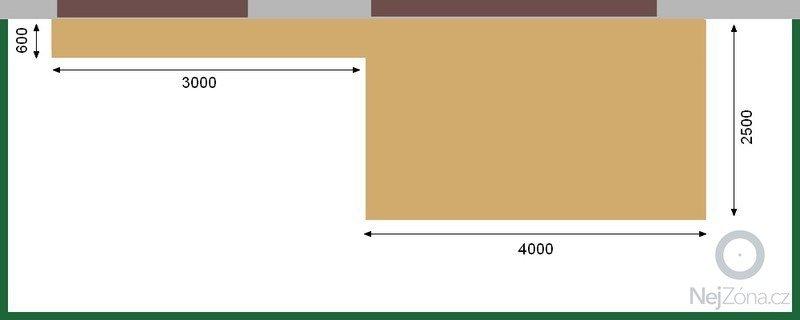 Zřízení dřevěné plochy,terasy,  před bytem: terasa