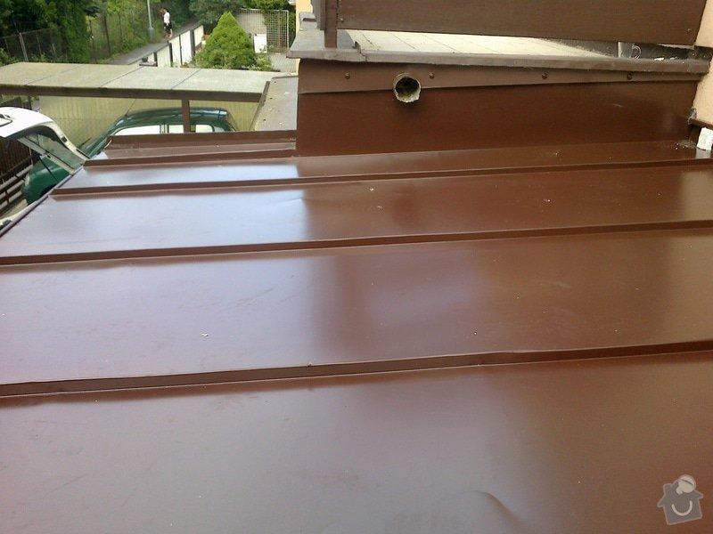 Klempířské práce na verandě - střecha 3x3m: 20062013282