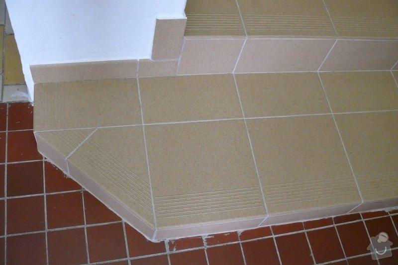 Schody - pokládka dlažby: P1050564