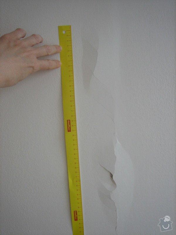 Opravy v bytě na Praze 4 - malířské atd.: prasklina