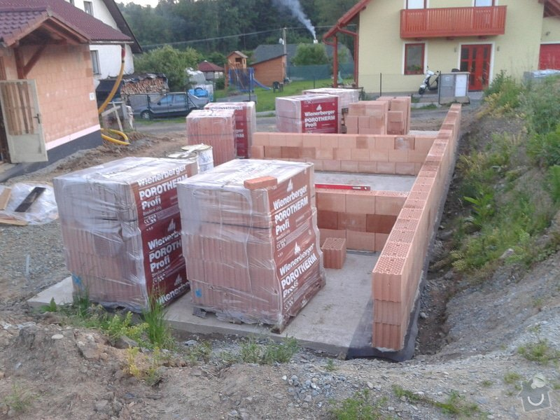 Výstavba hr. stavby garáže - Porotherm 24 Dryfix: IMG_20130612_205718