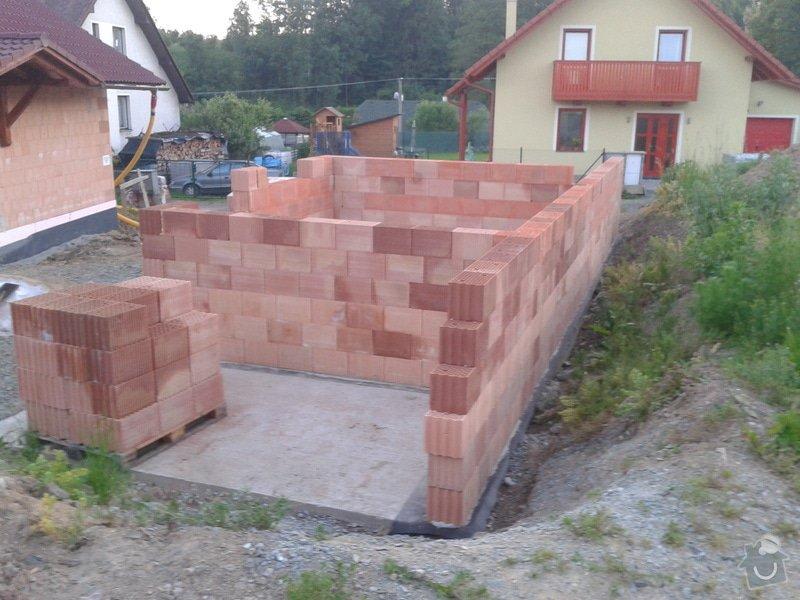 Výstavba hr. stavby garáže - Porotherm 24 Dryfix: IMG_20130613_210123