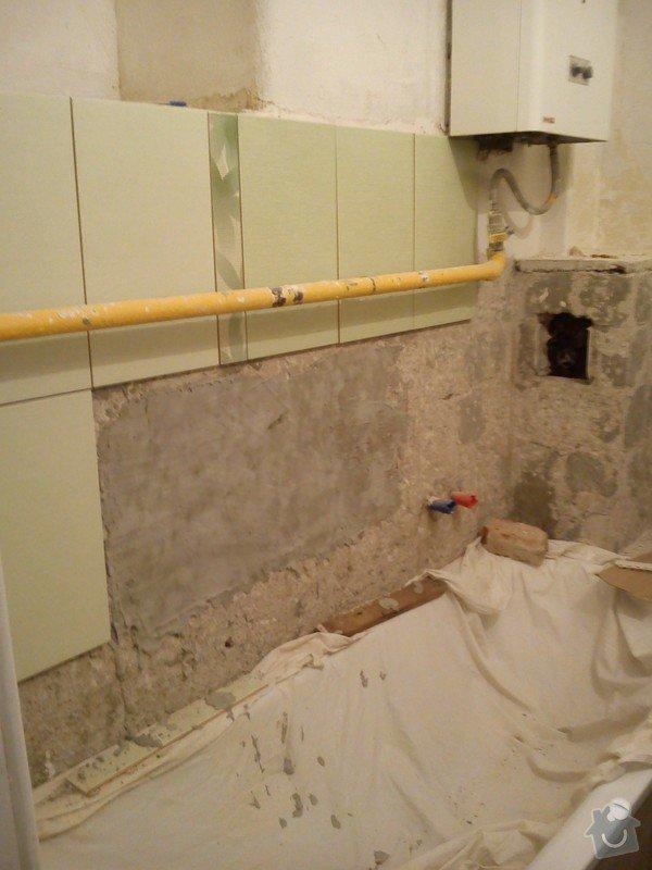 Částečná rekonstrukce bytu, pokládka dlažby: 009