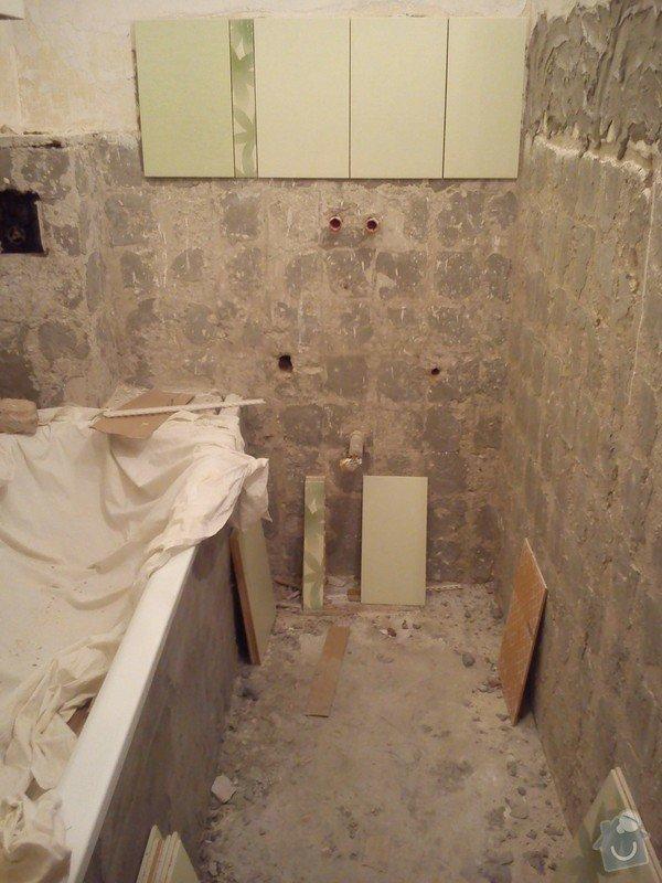 Částečná rekonstrukce bytu, pokládka dlažby: 010