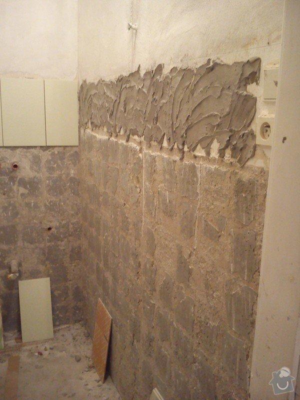 Částečná rekonstrukce bytu, pokládka dlažby: 011