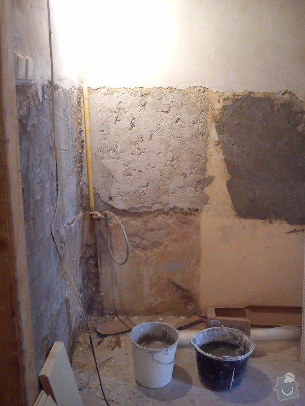 Částečná rekonstrukce bytu, pokládka dlažby: 012