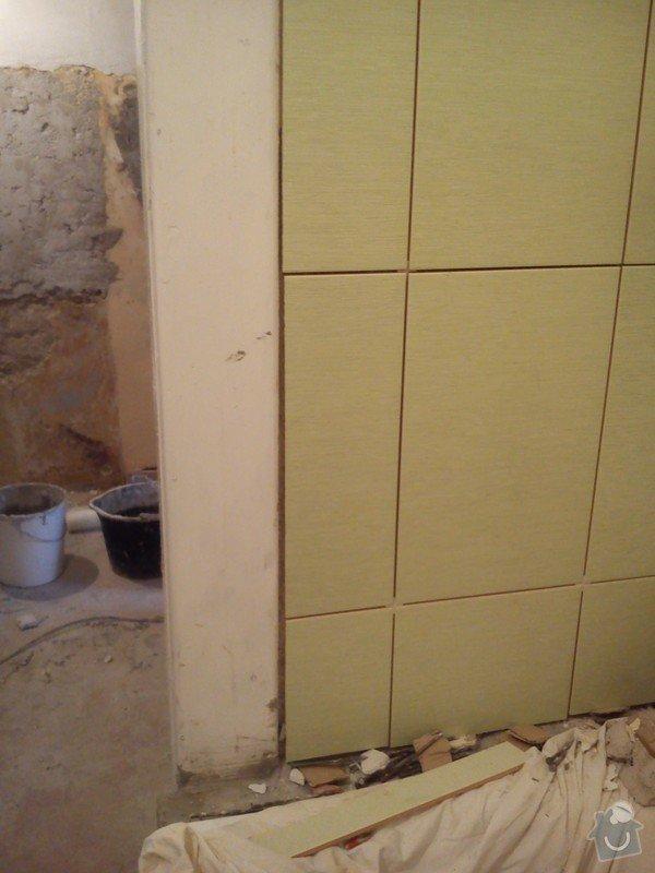 Částečná rekonstrukce bytu, pokládka dlažby: 016