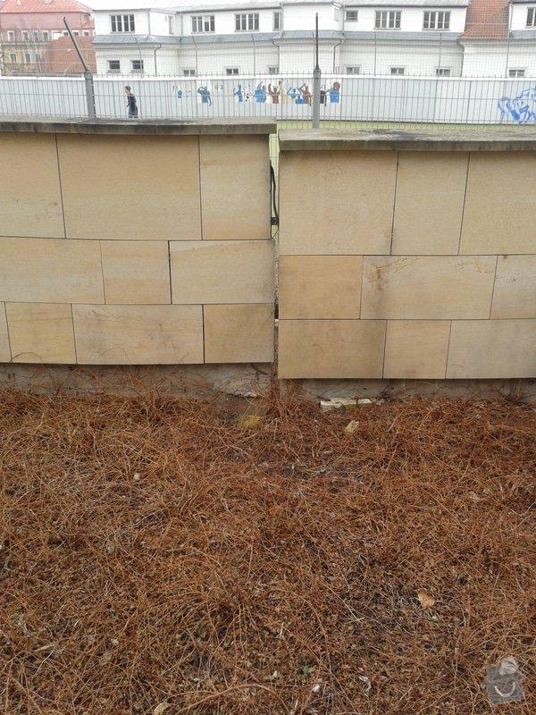 Sanace (stabilizace) a odvodnění opěrné stěny : 20130328_110125