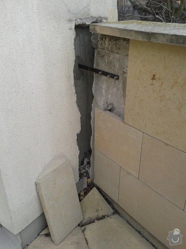 Sanace (stabilizace) a odvodnění opěrné stěny : 20130328_110321
