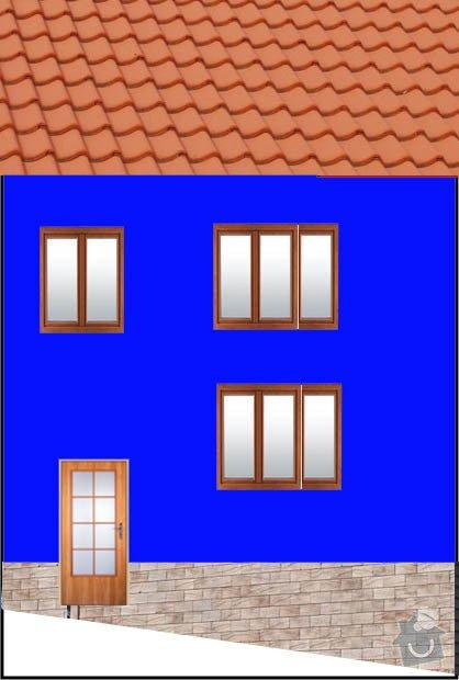 Zateplení domu + štuk + barva 120m2: predni_strana