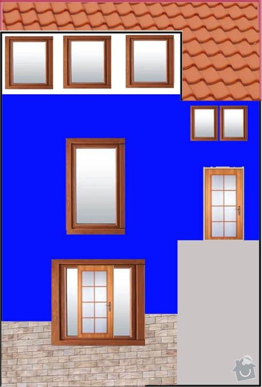 Zateplení domu + štuk + barva 120m2: zadni_strana_domu
