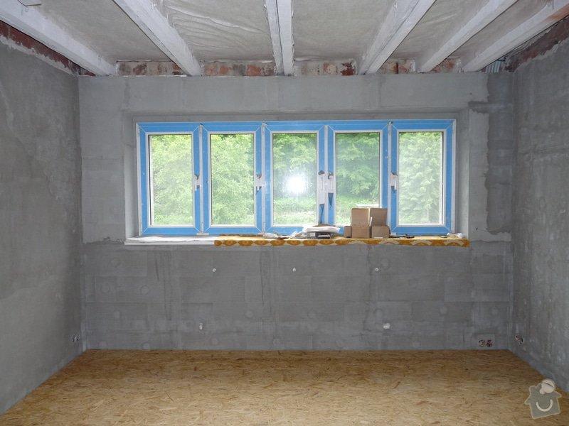 Sádrokartonové podhledy (60 m2) a štukování (180 m2): P1180185