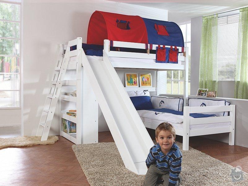 Dětská poschoďová postel s klouzačkou: postel
