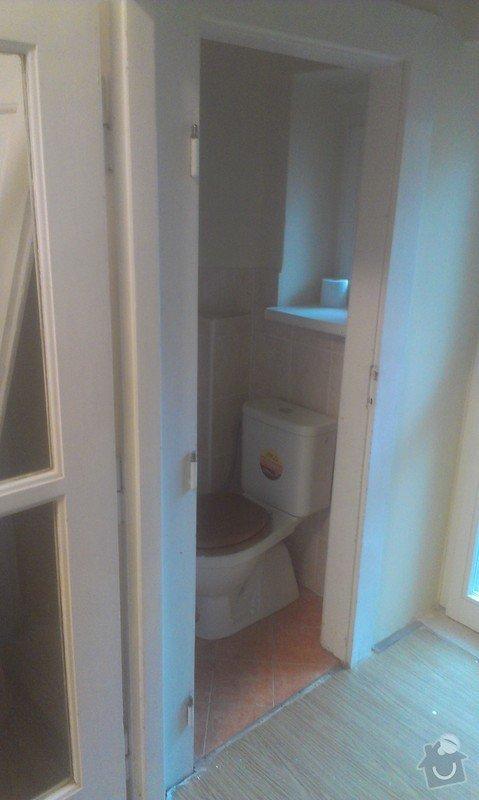 Instalace 4x zásuvky, přemístění pračkového kohoutu, dřezové baterie, odmontování dveří a futer: IMAG1510