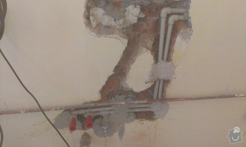 Instalace 4x zásuvky, přemístění pračkového kohoutu, dřezové baterie, odmontování dveří a futer: IMAG1511